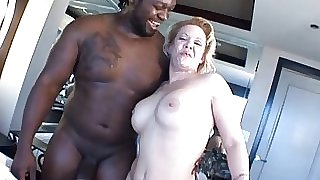 Mature blonde milf fucking big black cock in Big Black Cock Video
