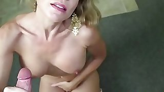 Glamcore bigtit mature Point of view tugging cumbot