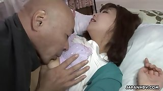 mature asian juri kitahara fucks her tenant after catching him jerking off with her underpants