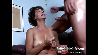 Horny all-natural mature housewife spooned