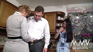 MMV FILMS Huge-titted Mature Fledgling Threesome