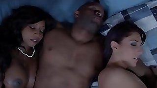 Ebony housewife and friend jizz swapping